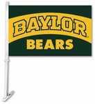 Baylor Bears Car Flag with Wall Brackett [97085-FS-BSI]
