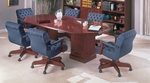 Quick Ship Bedford Traditional Octagonal Conference Table With Square Bases in Mahogany [TR-TOCT96-FS-HPF]