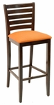 Classic Indoor Collection Beechwood Thick Ladder Back Barstool with Upholstered Seat [FLS-13B-FLS]
