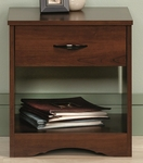 Beginnings 17''W x 18''H Wooden Night Stand with Easy-Glide Drawers and Open Shelf- Brook Cherry [416367-FS-SRTA]
