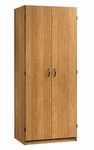 Beginnings 29''W x 71''H Wooden Storage Cabinet with Garment Rod - Highland Oak [413327-FS-SRTA]