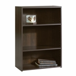 Beginnings 24''W x 35''H Wooden 3 Shelf Bookcase with 2 Adjustable Shelves - Cinnamon Cherry [409086-FS-SRTA]