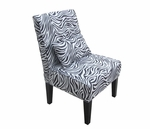 Bella Zebra Print High Density Foam Upholstered Accent Chair with Matching Bolster [8007-3-FS-INV]