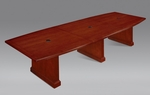 Belmont 12' Boat Shaped Expandable Table - Brown Cherry [7132-144EX-FS-DMI]