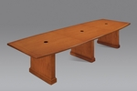 Belmont 12' Boat Shaped Expandable Table - Executive Cherry [7130-144EX-FS-DMI]
