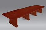 Belmont 16' Boat Shaped Expandable Table - Brown Cherry [7132-192EX-FS-DMI]