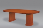 Belmont 8' Race Track Conference Table - Executive Cherry [7130-96-FS-DMI]