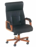 Belmont Executive Leather High Back Chair - Executive Cherry [7130-80-FS-DMI]