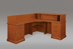 Belmont Left Reception L Desk - Executive Cherry [7130-67-FS-DMI]