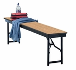 Particleboard Core Top Steel Frame Folding Bench- 12''W x 72''L x 18''H [B6F-MFT]