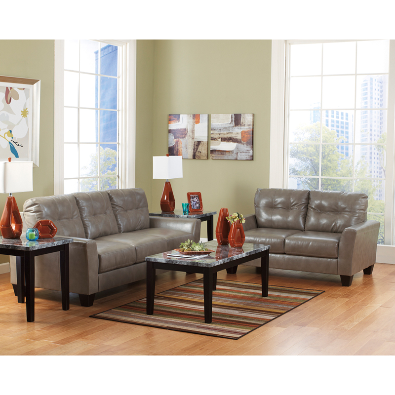 Benchcraft Paulie Living Room Set In Quarry DuraBlend FBC 3999SET QRY GG By