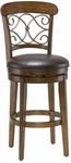 Bergamo Swivel Bar Stool - Dark Brown Vinyl [4299-830S-FS-HILL]