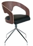Bernice Swivel Chair in Walnut [27222A-27220B-FS-ERS]