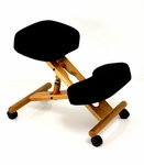 BetterPosture® Classic Plus Wooden Kneeling Chair - Black [BP1455BK-FS-JB]