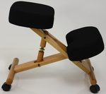 BetterPosture® Classic Wooden Kneeling Chair - Black [BP1450BK-FS-JB]
