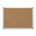 Bi-Silque Cork Board with Hardware - 2' x 3' - Aluminum Frame [BVCCA031790-FS-SP]