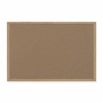 Bi-Silque Cork Board with MDF Frame - 2' x 3' - Brown [BVCSB0420001233-FS-SP]