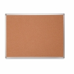 Bi-Silque Cork Board with Mount Hardware - 4' x 3' - Aluminum Frame [BVCCA051790-FS-SP]