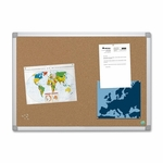 Bi-Silque Cork Board with Mount Hardware - 6' x 4' - Aluminum Frame [BVCCA271790-FS-SP]