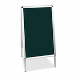 Bi-Silque Wet -Erase Display Board -1 -7/10'' x 24'' x 47'' -BK Surface/AM Frame [BVCDKT30505072-FS-SP]