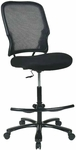 Space Big and Tall Double Air Grid® Back Drafting Chair with Mesh Seat and 325lb. Weight Capacity [15-37A720D-FS-OS]