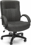 Big & Tall Executive Mid-Back Chair - Gray Carbon [711-301-FS-MFO]