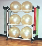 67''D X 19''W PVC Big Ball and Fitness Cart with Locking Casters [BBFCT-FS-DC]