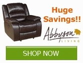 Save now on ALL Abbyson Living Products!!!