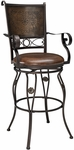 Big & Tall Copper Stamped Back Barstool with Arms [222-432-FS-PO]