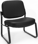 Big & Tall Guest and Reception Vinyl Chair - Black [409-VAM-606-MFO]