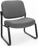 Big & Tall Guest and Reception Fabric Chair - Gray [409-801-MFO]