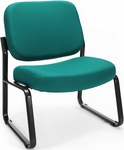 Big & Tall Guest and Reception Fabric Chair - Teal [409-802-MFO]