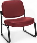 Big & Tall Guest and Reception Vinyl Chair - Wine [409-VAM-603-MFO]