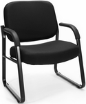 Big & Tall Guest and Reception Fabric Chair with Arms - Black [407-805-MFO]