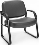 Big & Tall Guest and Reception Vinyl Chair with Arms - Charcoal [407-VAM-604-MFO]