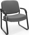 Big & Tall Guest and Reception Fabric Chair with Arms - Gray [407-801-MFO]