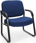 Big & Tall Guest and Reception Fabric Chair with Arms - Navy [407-804-MFO]
