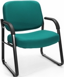 Big & Tall Guest and Reception Fabric Chair with Arms - Teal [407-802-MFO]