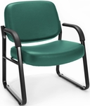 Big & Tall Guest and Reception Vinyl Chair with Arms - Teal [407-VAM-602-MFO]