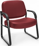 Big & Tall Guest and Reception Vinyl Chair with Arms - Wine [407-VAM-603-MFO]
