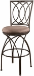 Big & Tall Metal Crossed Legs Swivel Bar Stool [586-851-FS-PO]
