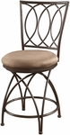 Big & Tall Metal Crossed Legs Counter Stool [586-918-FS-PO]