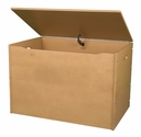 American Made Baltic Birch Plywood Big Toy Box with Carry Handles - Honey Oak