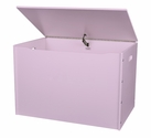 American Made Baltic Birch Plywood Big Toy Box with Carry Handles - Lavender