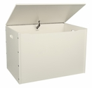 American Made Baltic Birch Plywood Big Toy Box with Carry Handles - Linen