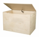 American Made Baltic Birch Plywood Big Toy Box with Carry Handles - Natural