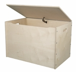 American Made Baltic Birch Plywood Big Toy Box with Carry Handles - Unfinished [056-UNF-FS-LC]