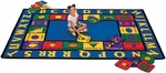 Bilingual Spanish/English Words Rug [1600-FS-CAP]
