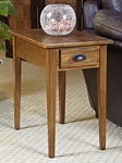 Favorite Finds 15''W x 24''H Bin Pull Chairside Table with One Drawer - Candleglow [9011-FS-LCK]