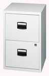 Bisley All Steel Two Drawer Locking Filing Cabinet - Light Gray [FILE2-LG-FS-EOS]